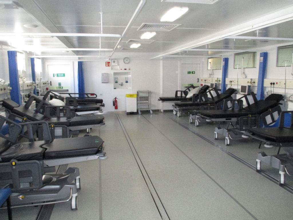 Inside the Vanguard ward at Southend Hospital