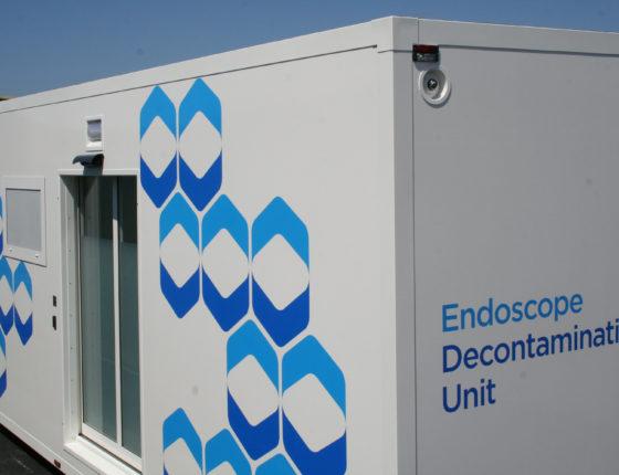 Vanguard's mobile endoscope decontamination unit side view