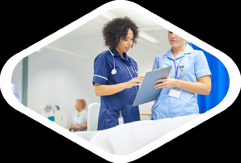 Nursing staff deliver patient care